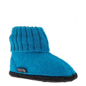 Cozy baby slofjes turquoise