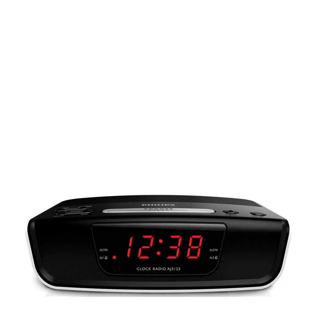 Philips  wekkerradio, Zwart, wit