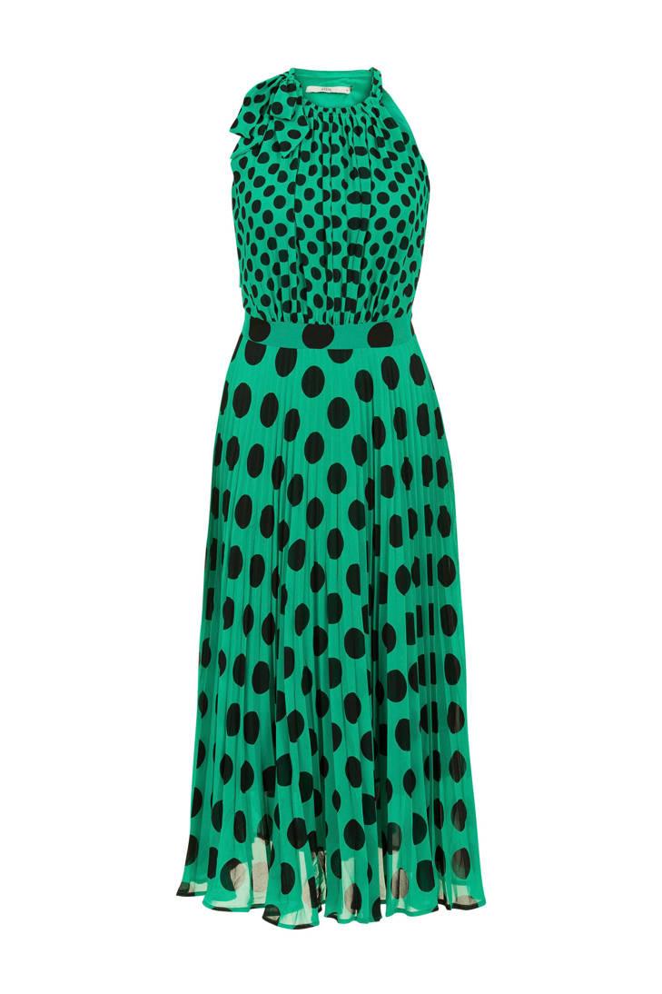 stippen plissé en Steps jurk met qzw7AB0Xx