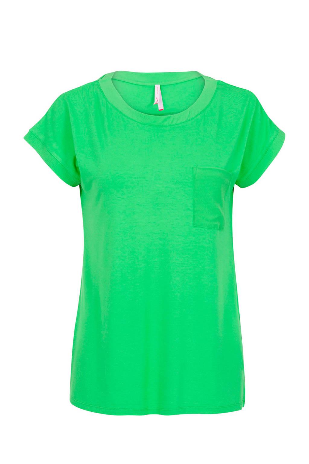 Miss Etam Regulier T-shirt groen, Groen