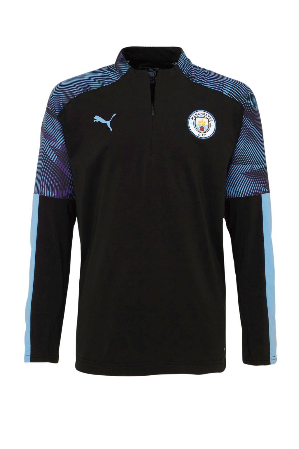 Puma Junior Manchester City voetbalshirt Training, Zwart/lichtblauw