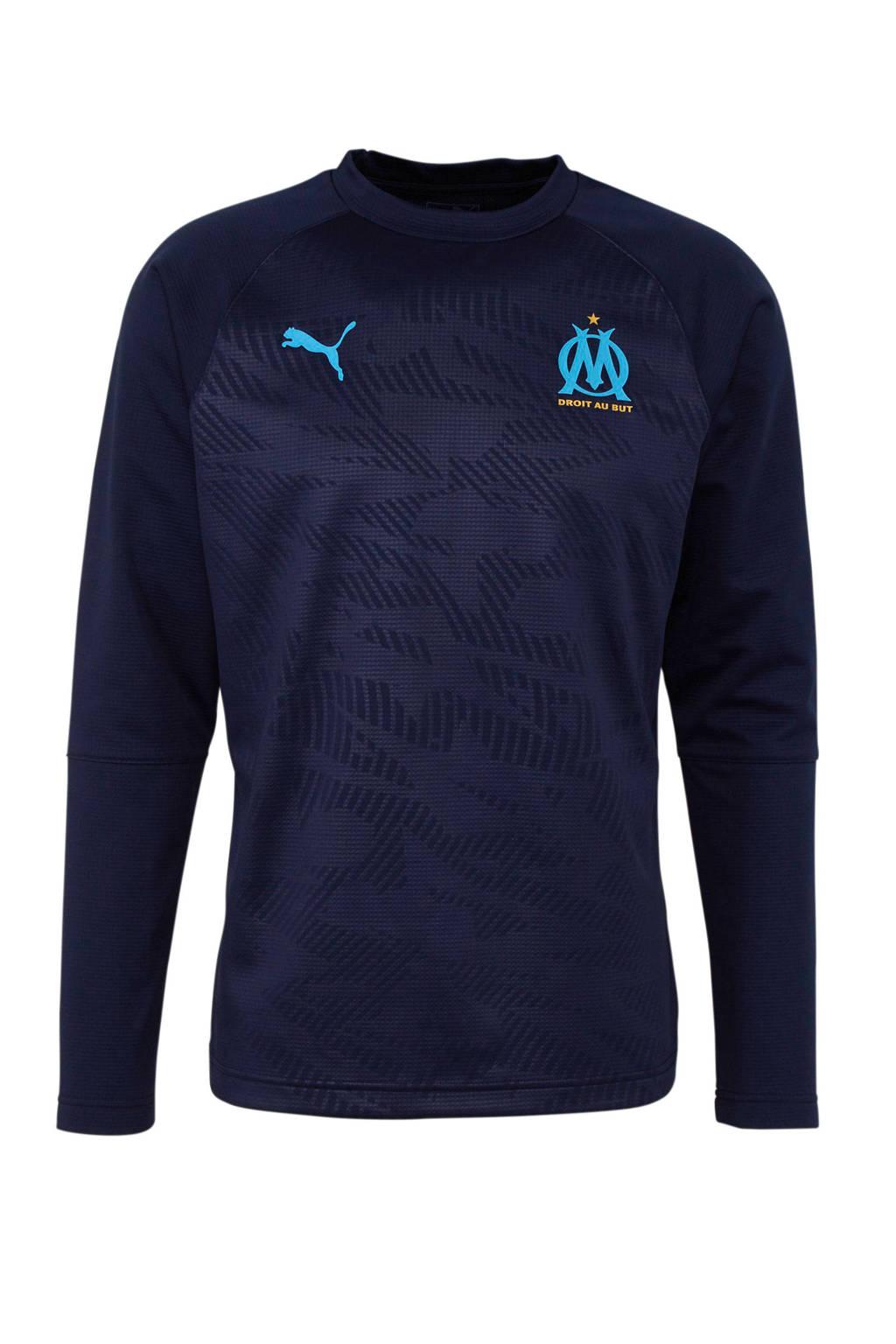Puma Senior Olympique Marseille voetbalsweater donkerblauw, Donkerblauw