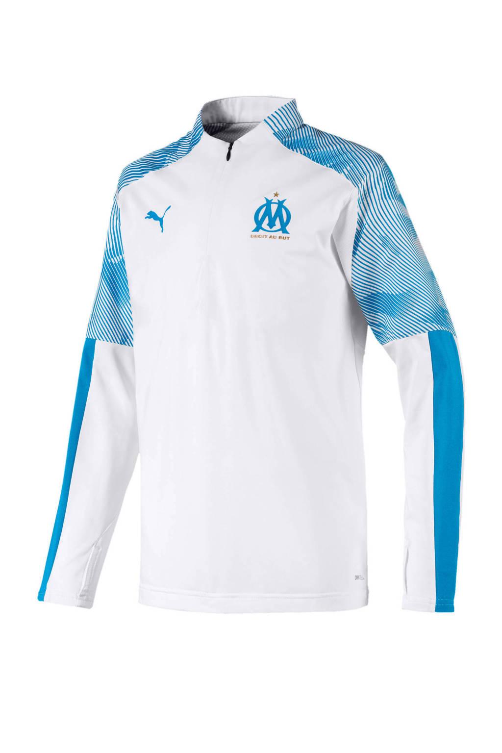 Puma Junior Olympique Marseille voetbalshirt wit/blauw, Wit/blauw