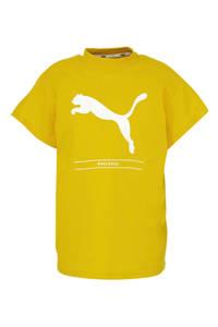 Puma T-shirt geel/wit, Geel/wit