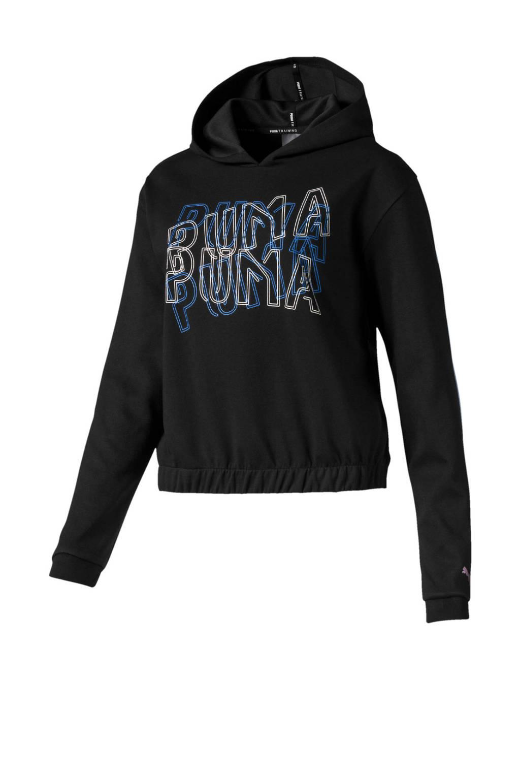 Puma sportsweater zwart, Zwart/blauw