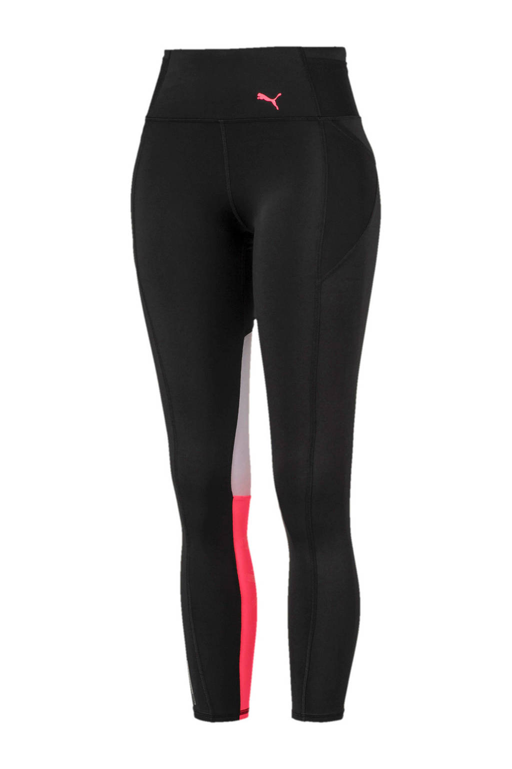 Puma sportbroek zwart/roze/wit, Zwart/roze/wit