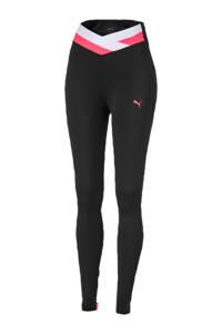 Puma 7/8 sportbroek zwart/roze/wit, Zwart/roze/wit