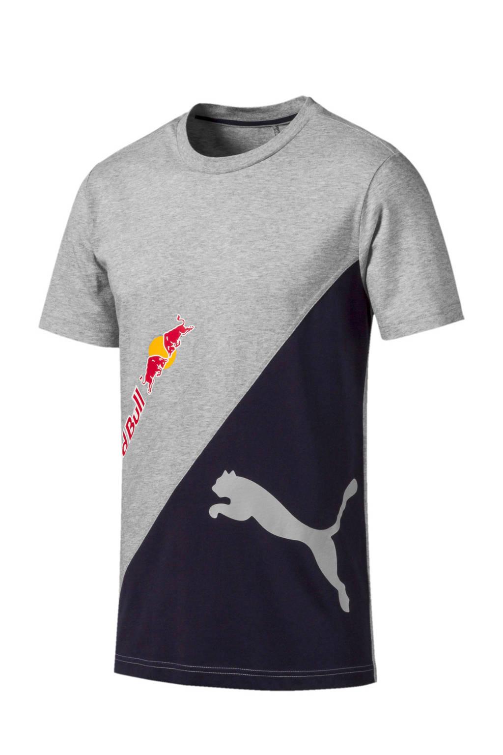 Puma   Red Bull Racing T-shirt grijs, Grijs melange/zwart