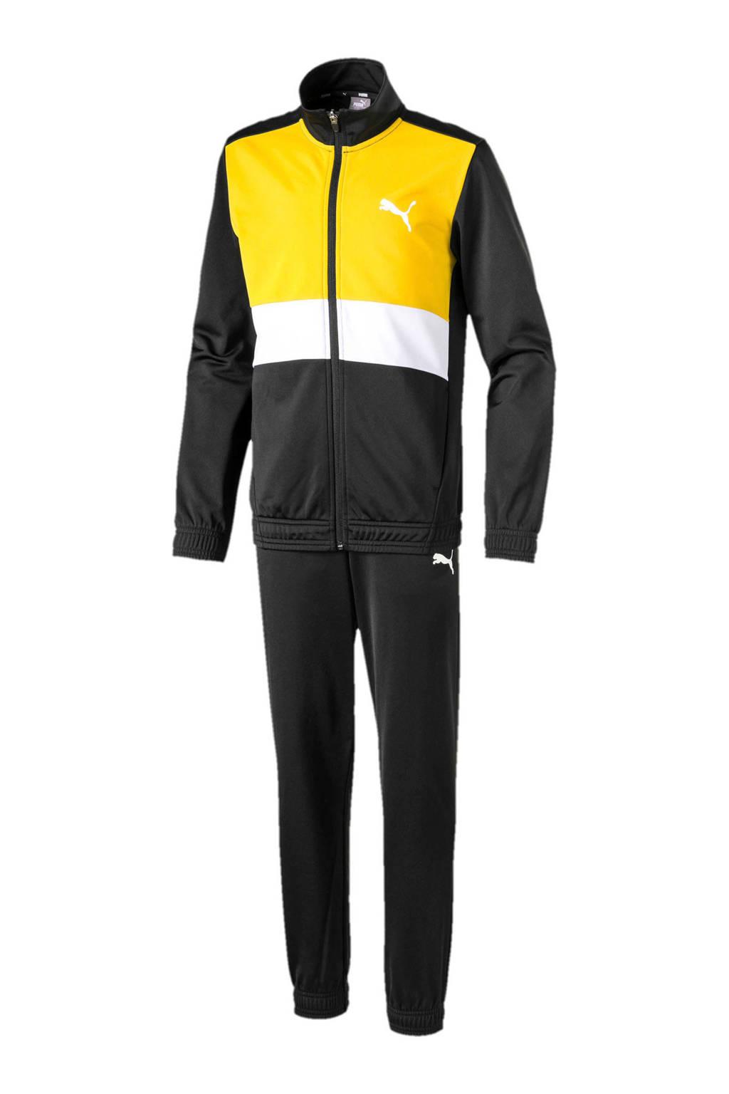 Puma   trainingspak geel/zwart, Geel/zwart/wit
