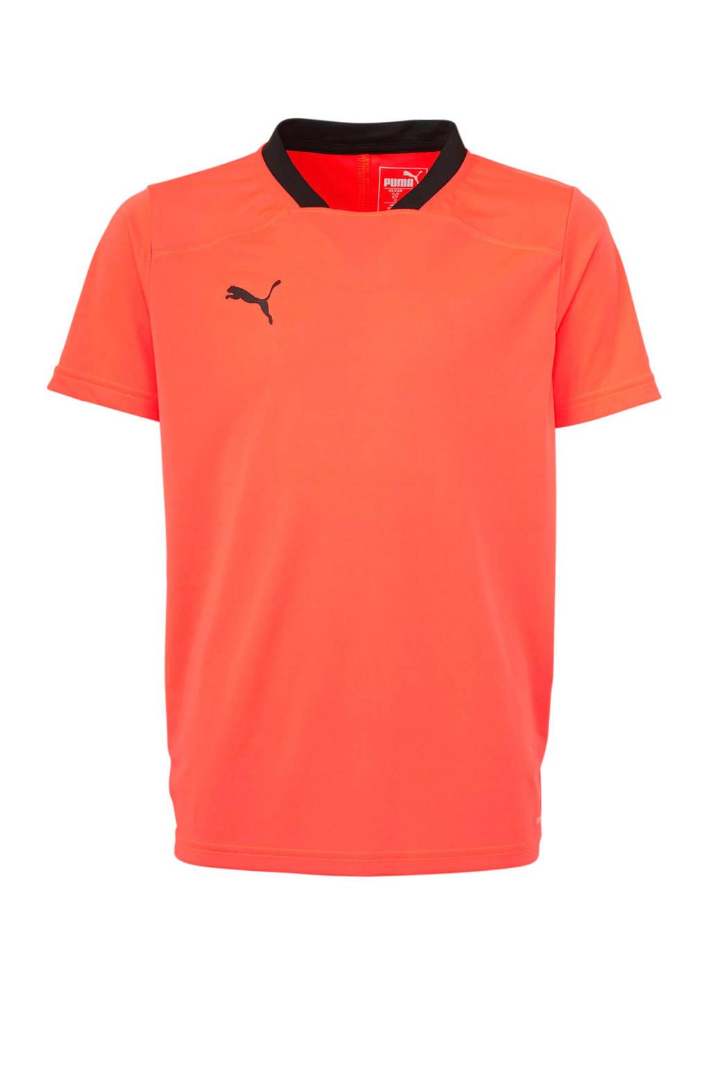 Puma   voetbalshirt oranje/zwart, Oranje/zwart