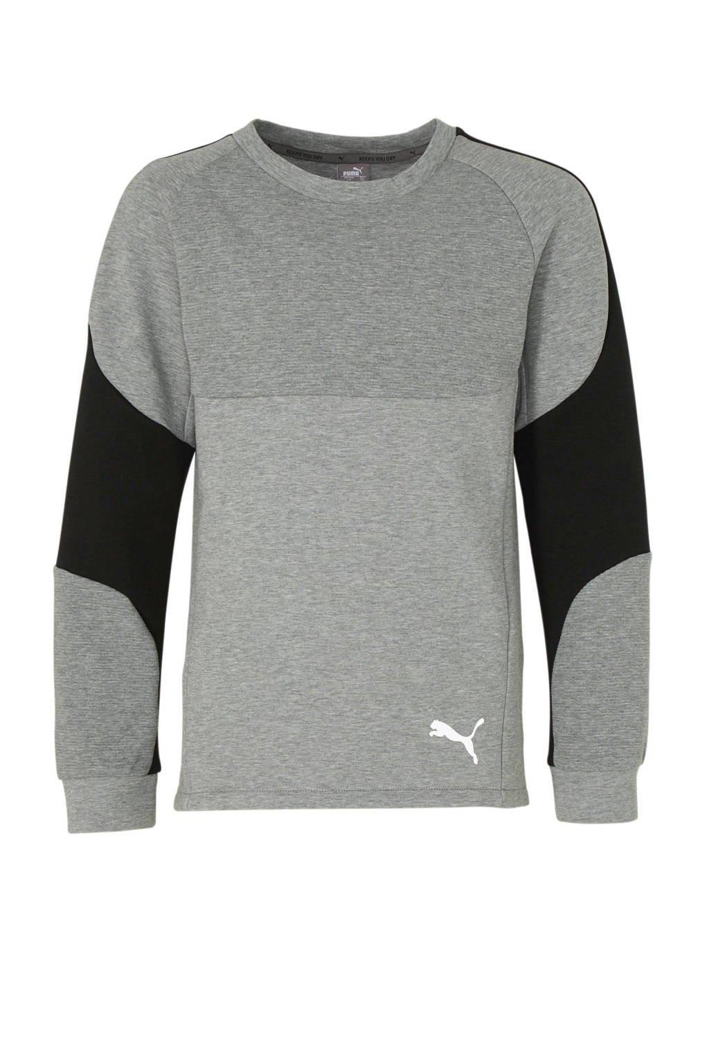 Puma   sportsweater grijs/zwart, Grijs melange/zwart