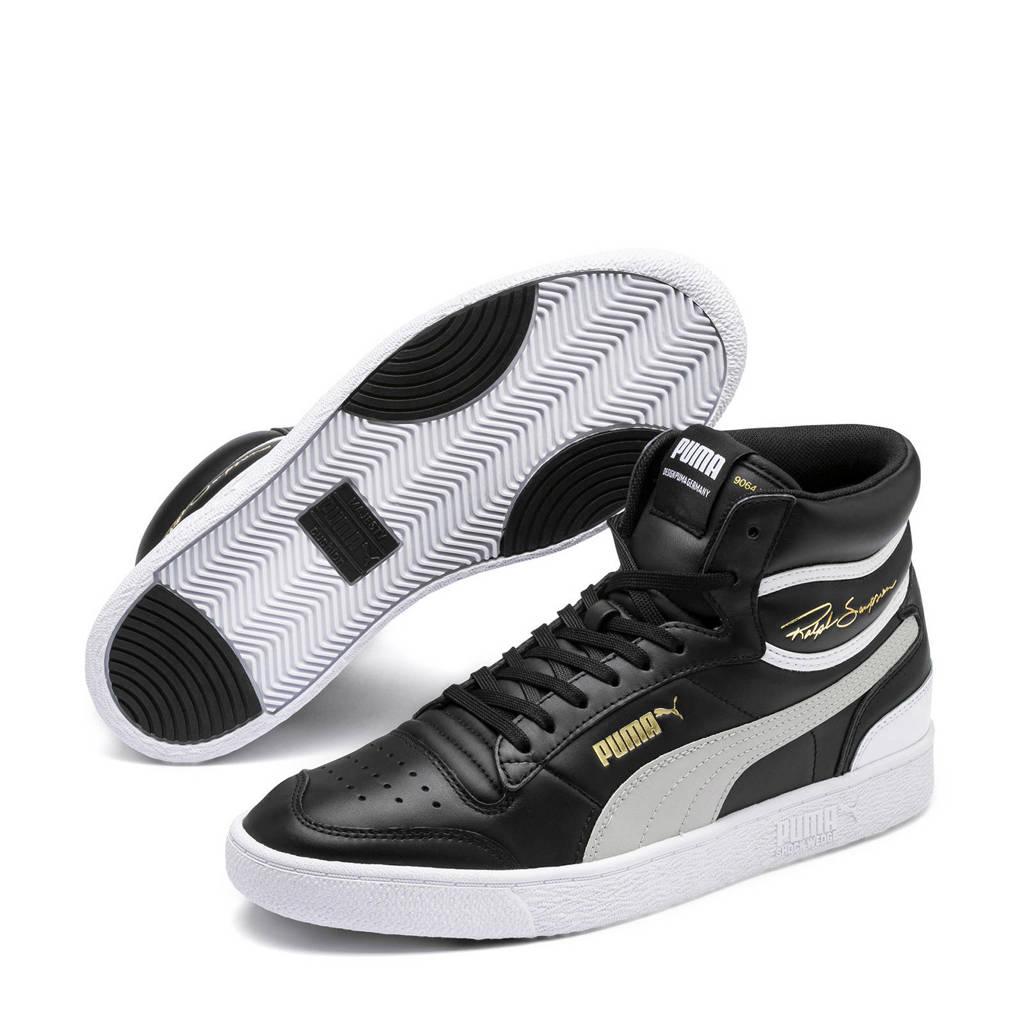 Puma  Ralph Sampson Mid sneakers zwart/licht grijs, Zwart/lichtgrijs