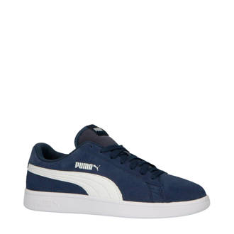 a8d79f9f731 Smash V2 suède sneakers donkerblauw/wit