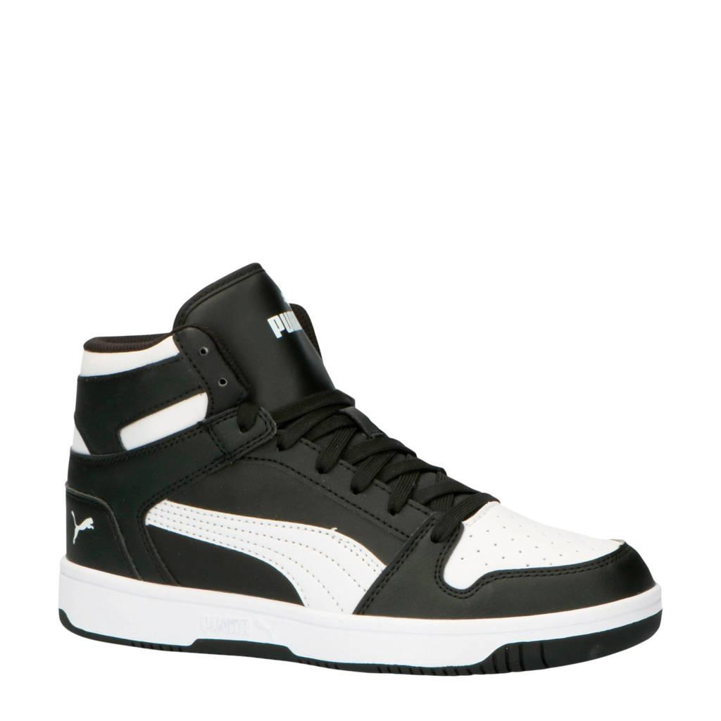 Puma  Rebound LayUp SL sneakers zwart/wit, Zwart/wit