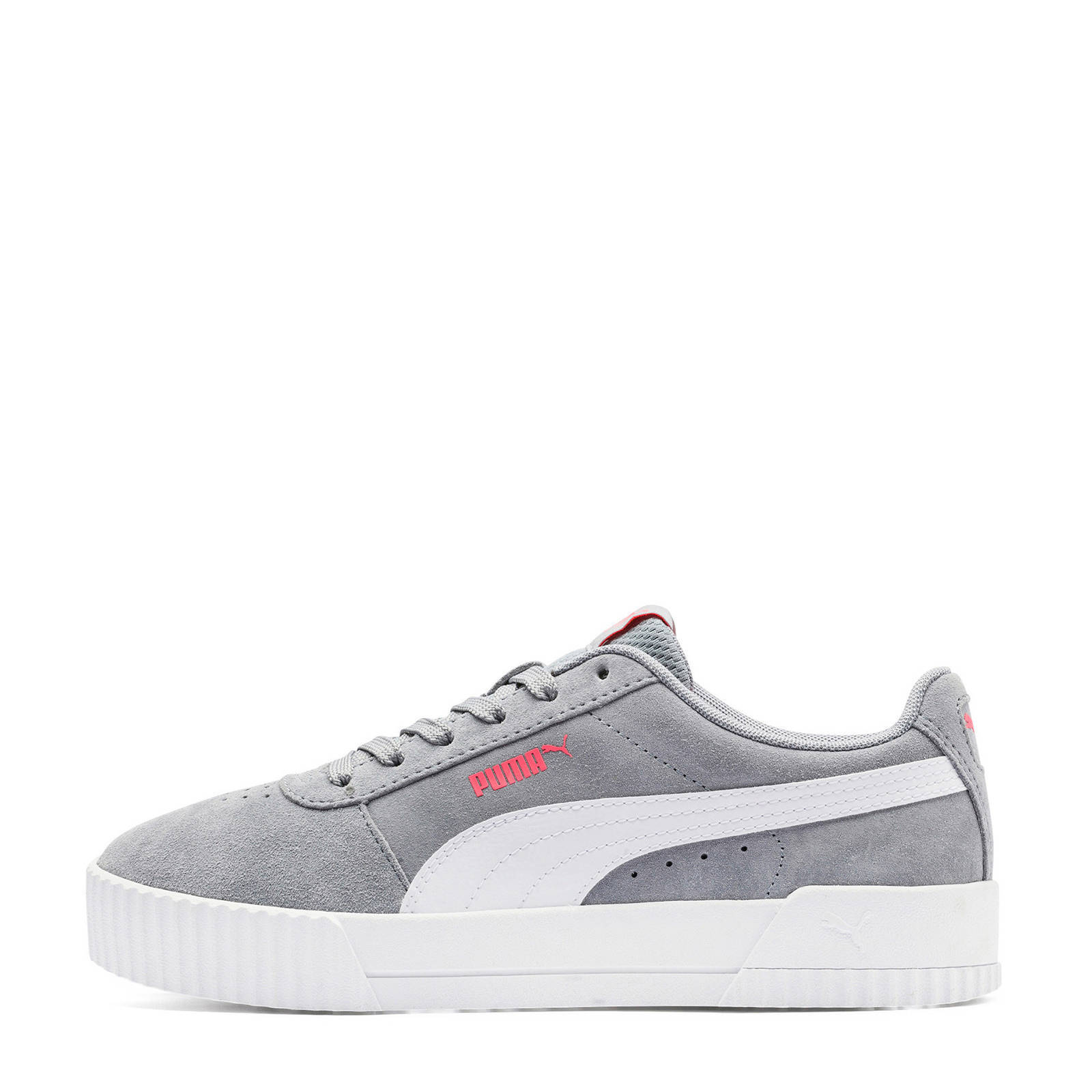 Puma Carina suède sneakers lichtrozewit | wehkamp