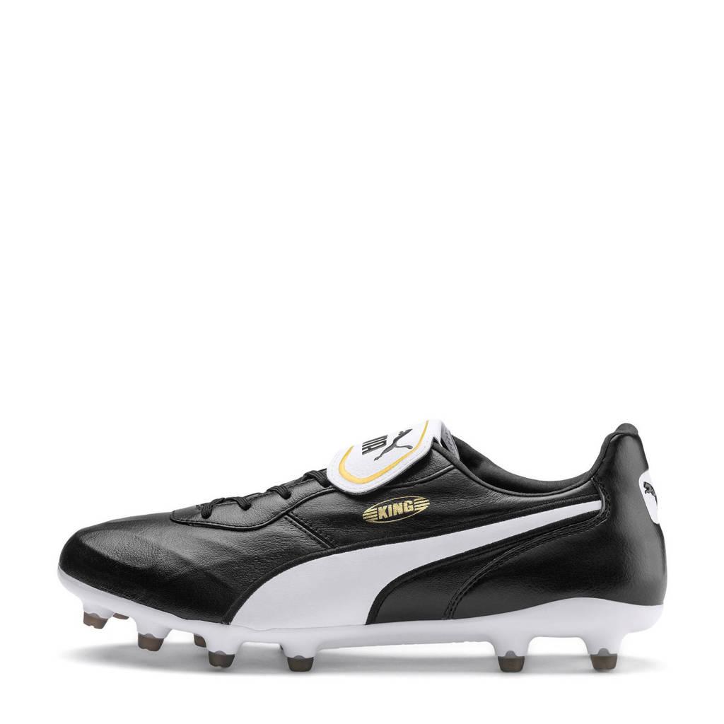 Puma  King Top FG King Top FG voetbalschoenen zwart, Zwart/wit
