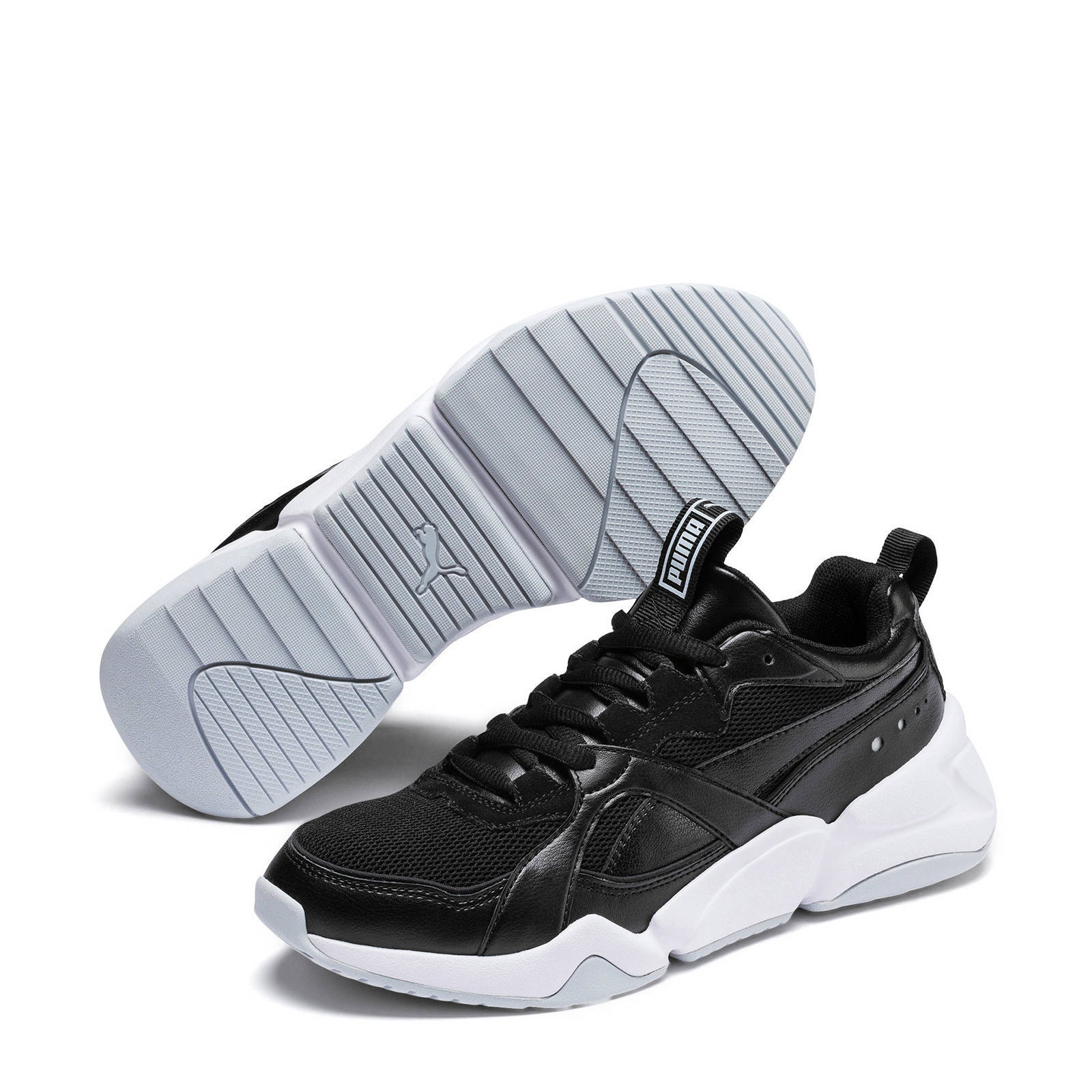 Puma Nova 2 sneakers zwartwitgoud | wehkamp