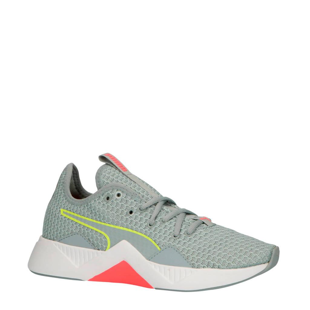Puma Incite FS fitness schoenen lichtgrijs/geel/roze, Lichtgrijs/geel/roze