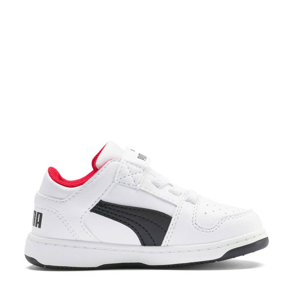 Puma  Rebound Layup Lo SL V Inf sneakers wit/zwart/rood, Wit/zwart/rood