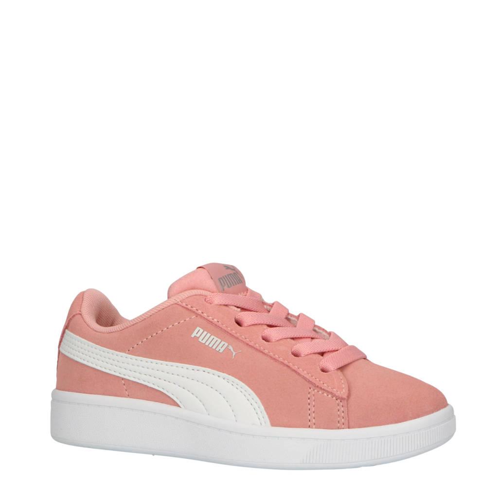 Puma  Vikky V2 Vikky V2 sneakers suede roze/wit, Roze/wit/zilver