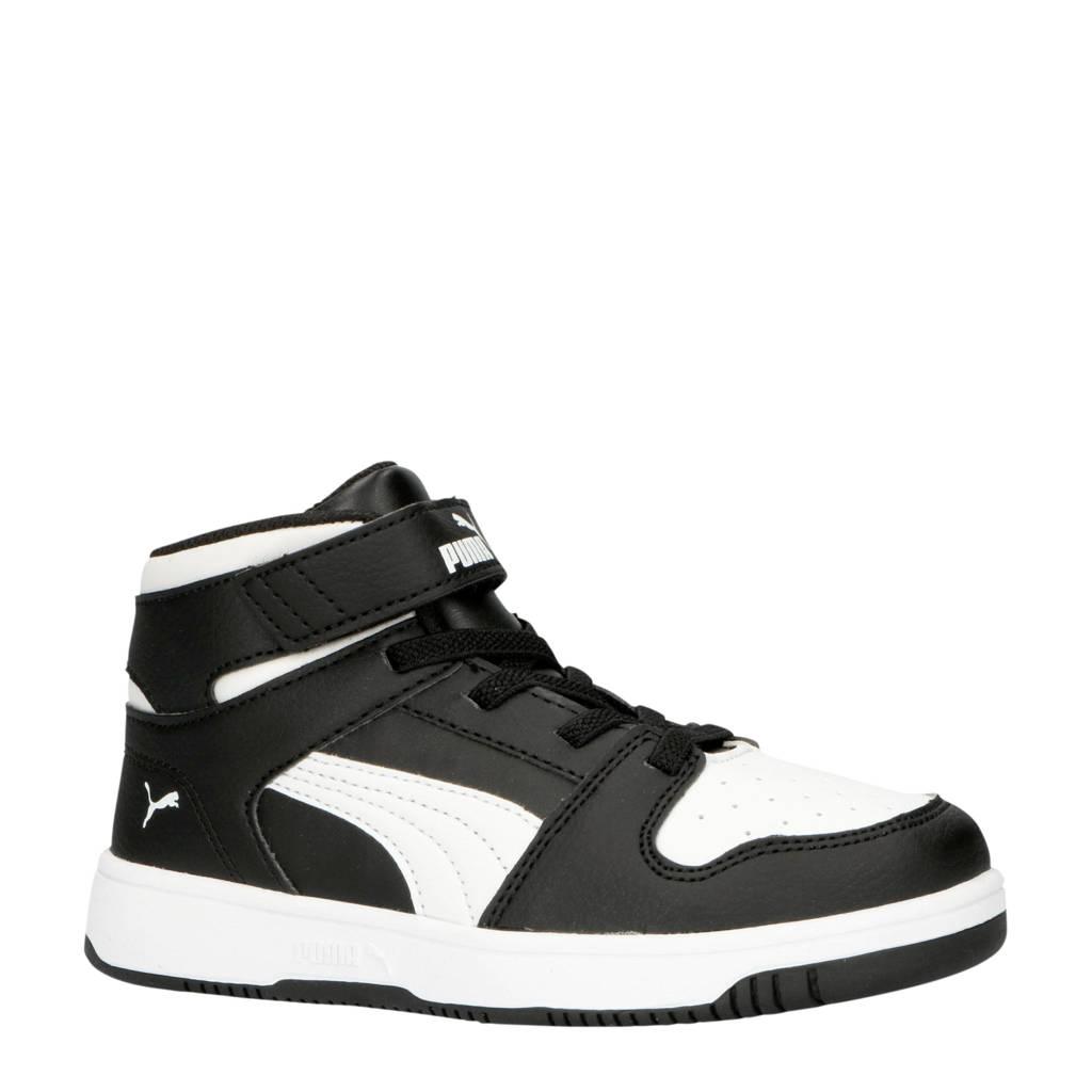 Puma  Rebound Layup SL V PS sneakers zwart/wit, Zwart/wit