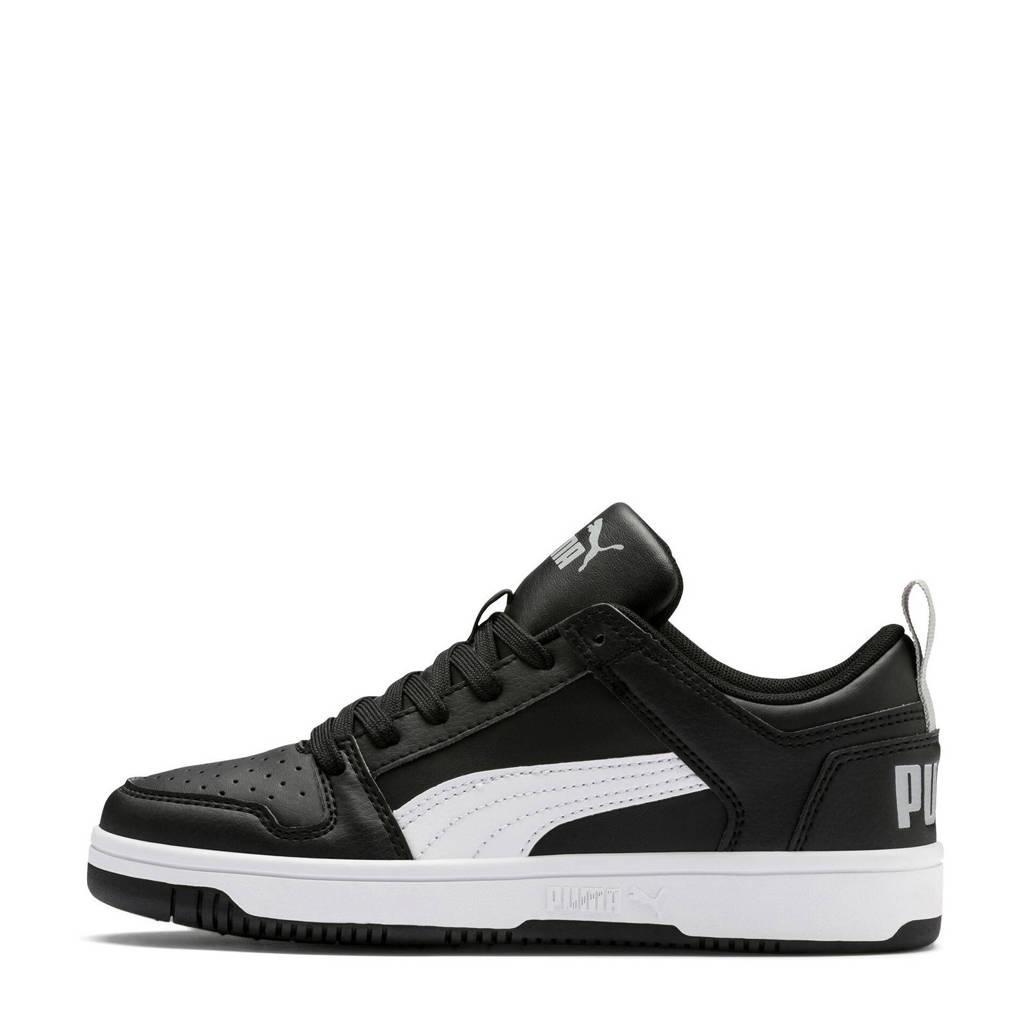 Puma  Rebound Layup Lo SL Jr sneakers wit, Zwart/wit