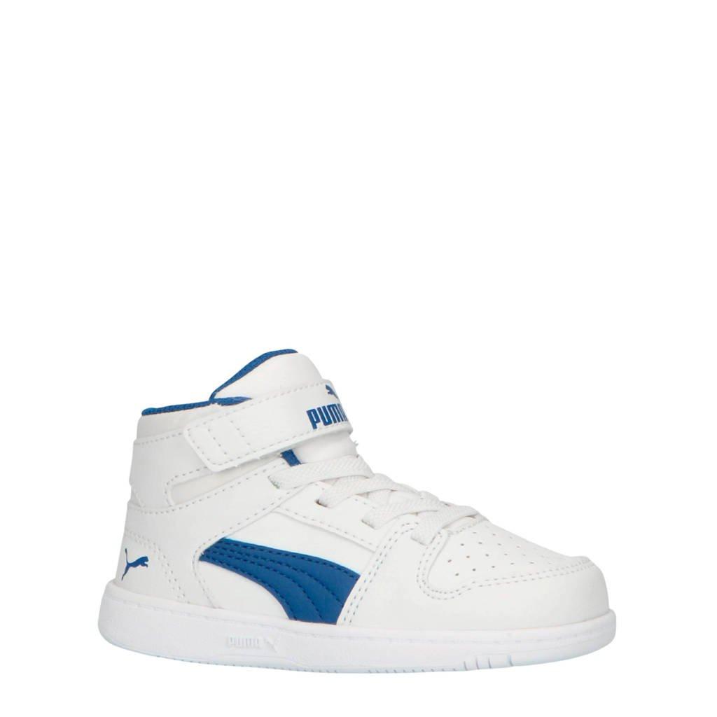 Puma  Rebound Layup SL V Inf sneakers halfhoog zwart/wit, Wit/kobalt