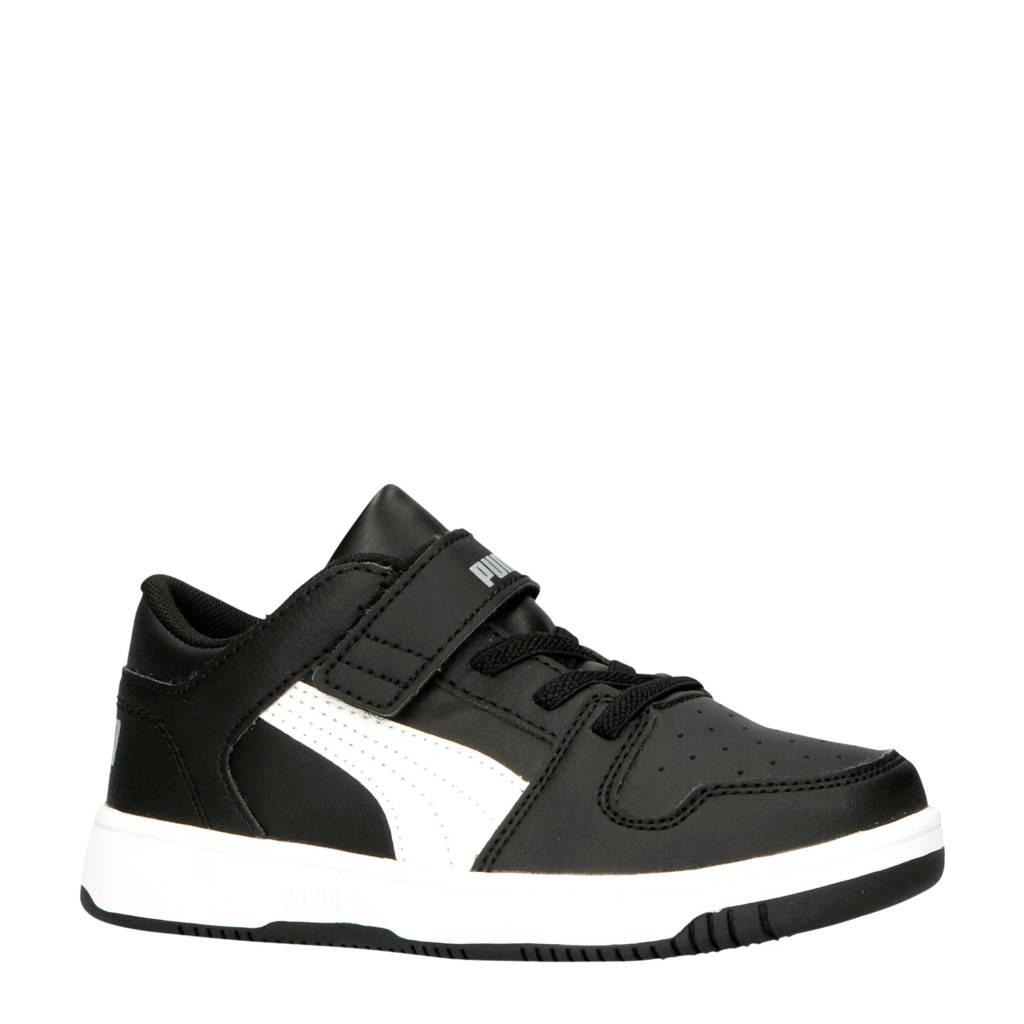 Puma  Rebound Layup Lo SL V PS sneakers zwart/wit, Zwart/wit