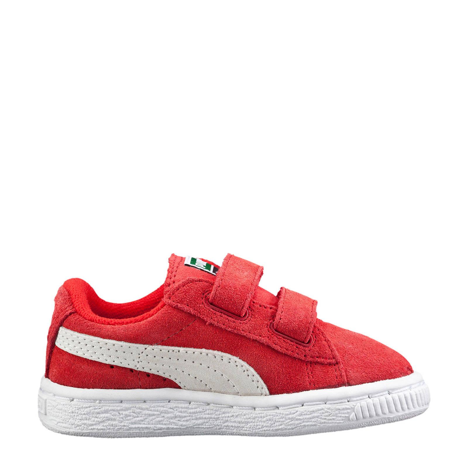 Puma Suède 2 Straps Infant sneakers rood   wehkamp