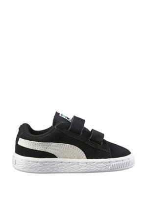 Suède 2 Straps Infant sneakers zwart