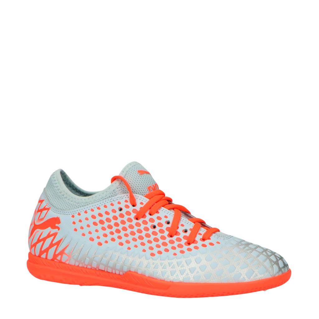 Puma  Future 4.4 IT jr. Future 4.4 IT jr voetbalschoenen, zilver/oranje