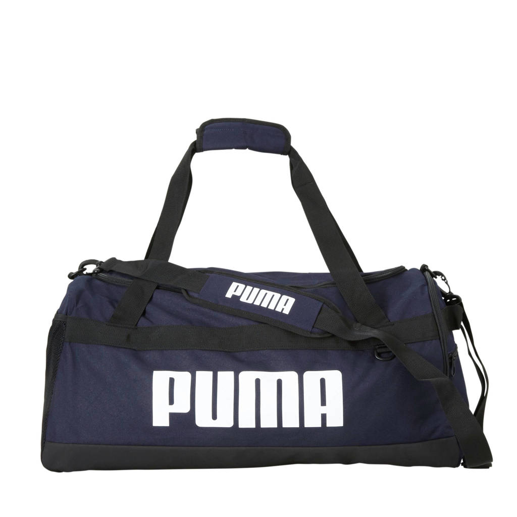 Puma   Challenger Duffel Bag M sporttas donkerblauw/zwart, Donkerblauw/zwart