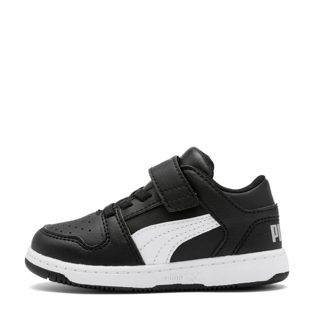 Puma  Rebound Layup Lo SL V Inf sneakers zwart/wit, Zwart/wit