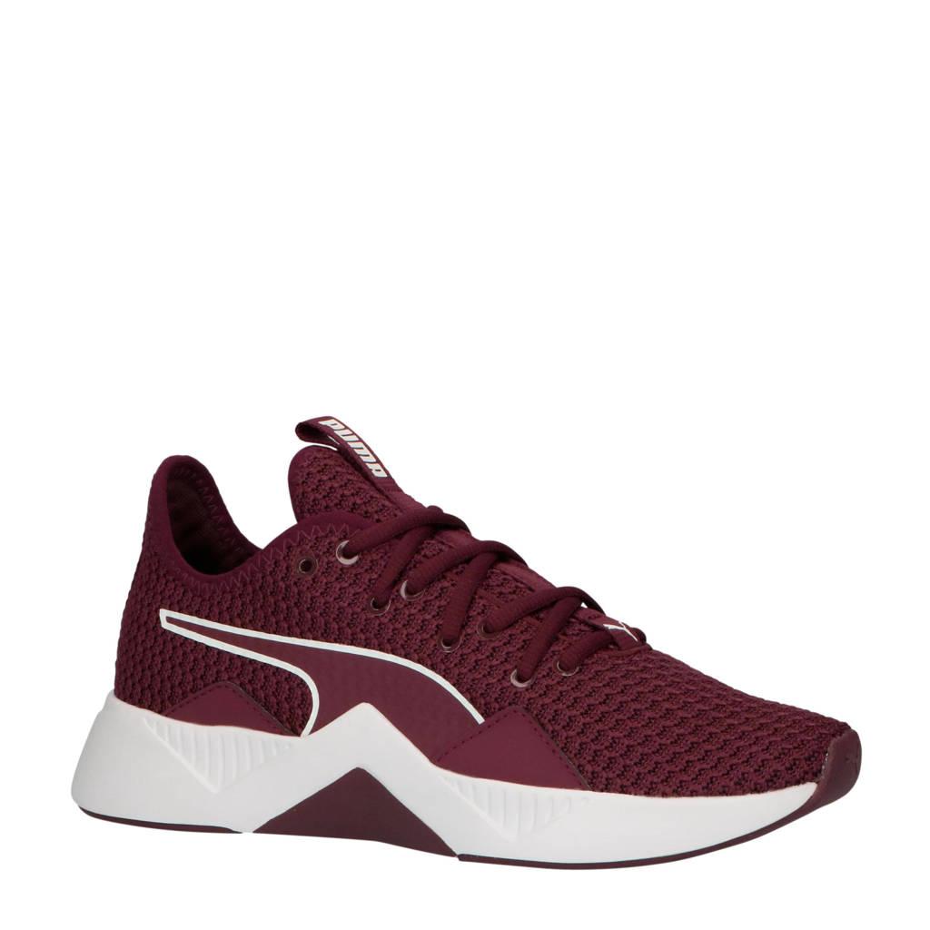 Puma Incite FS fitness schoenen donkerrood/wit, Donkerrood/wit
