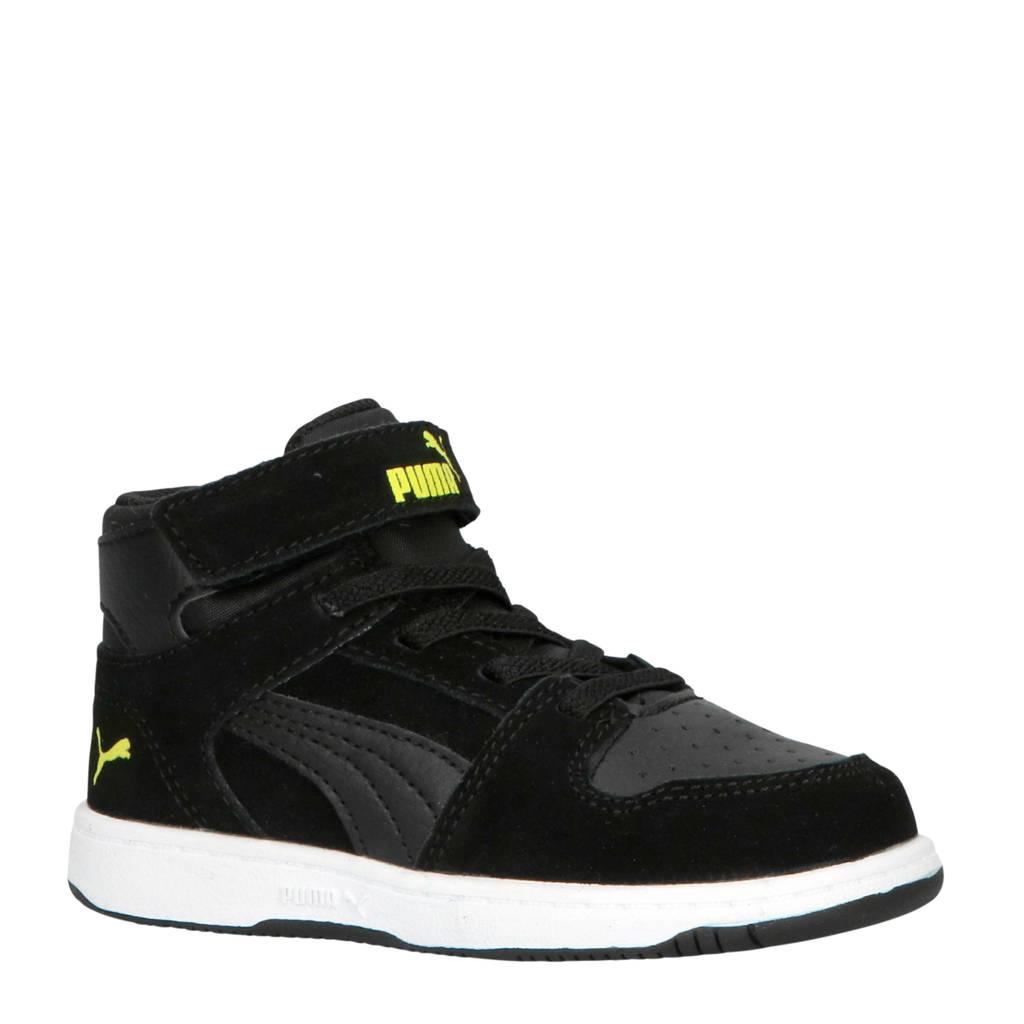 Puma  Rebound Layup SL V Inf sneakers halfhoog zwart/wit, Zwart/wit