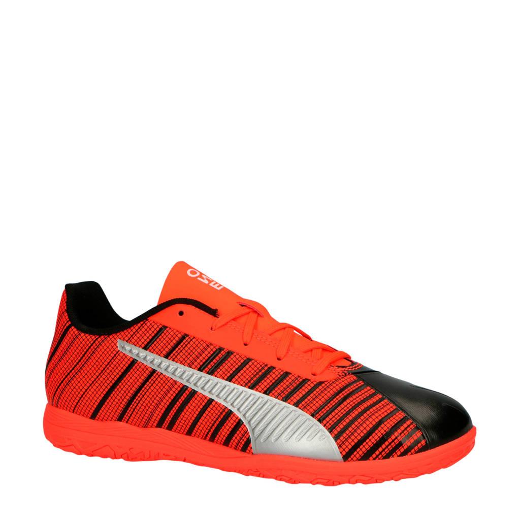 Puma  One 5.4 IT Jr. voetbalschoenen zwart/rood, Zwart/rood