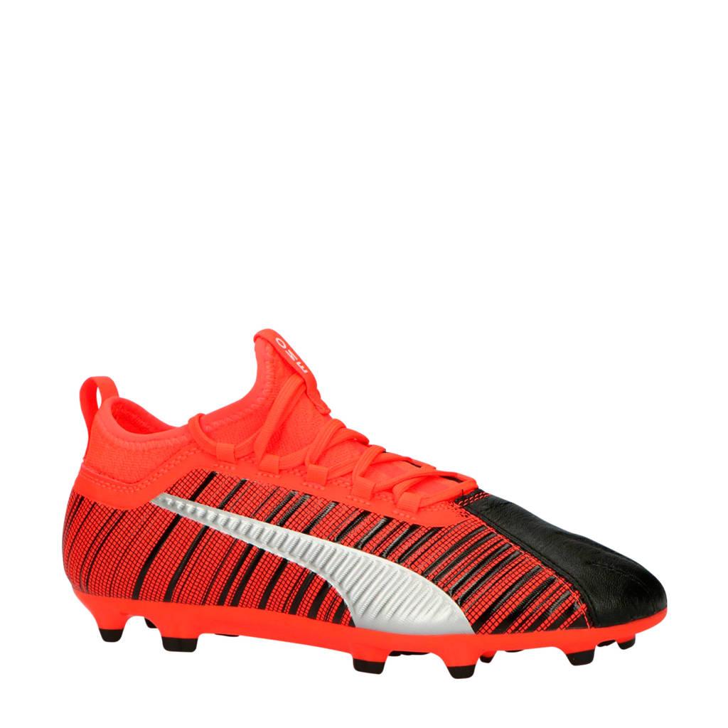 Puma  ONE 5.3 FG/AG Jr. ONE 5.3 FG/AG jr voetbalschoenen, Oranje/zwart