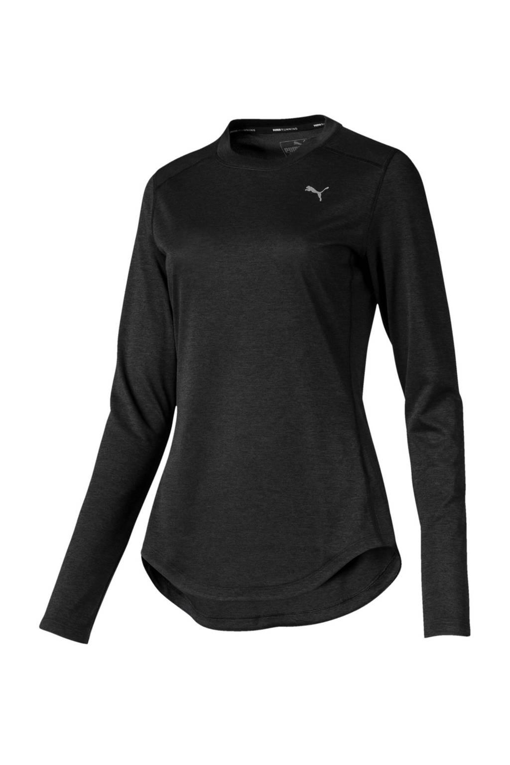 Puma hardloop T-shirt zwart, Zwart