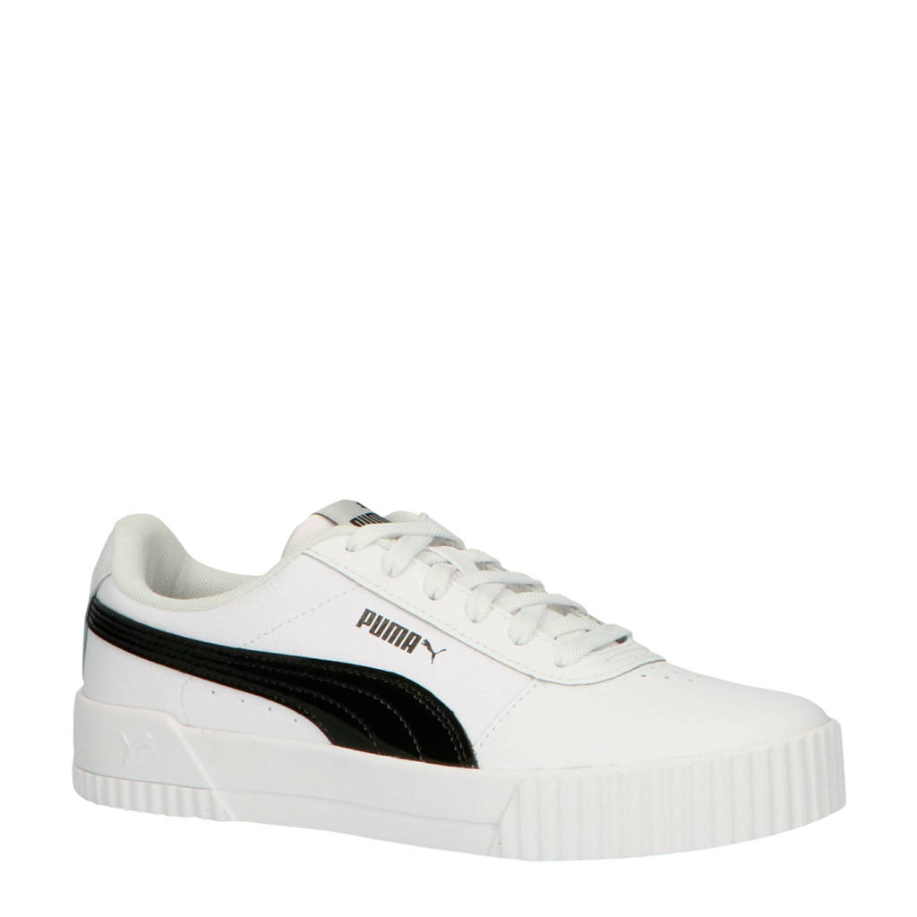 Puma Carina sneakers wit/zwart, Wit/zwart