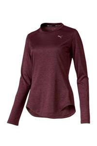 Puma hardloop T-shirt donkerrood, Donkerrood