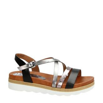 sandalen zwart/zilver