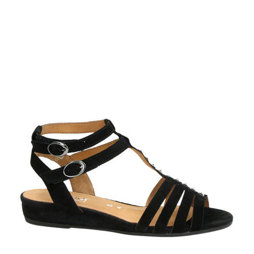 Gabor suède sandalen zwart kopen