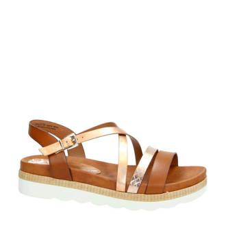 sandalen bruin/goud