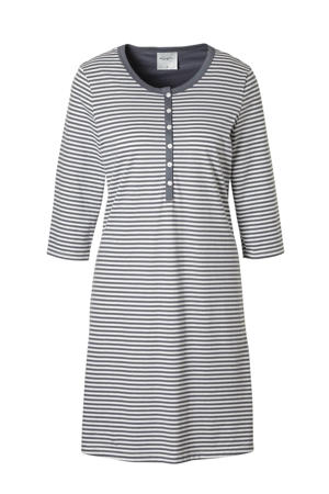 gestreept nachthemd grijs/wit