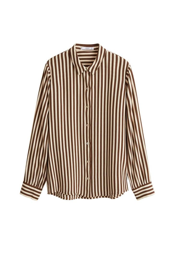 ecru Mango Mango blouse bruin gestreepte gestreepte v40XBqB