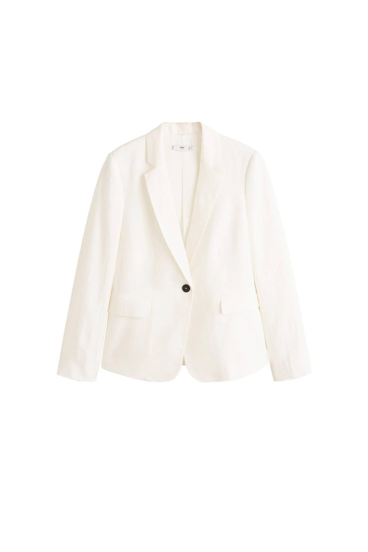 linnen blazer wit
