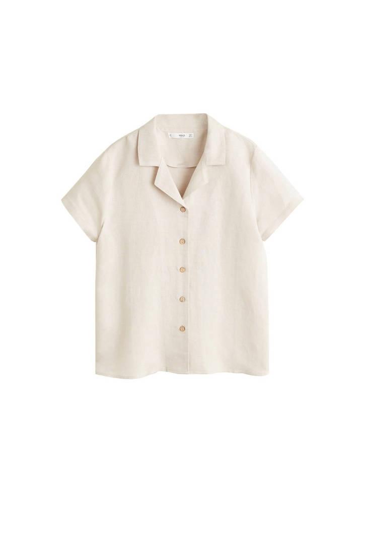 Mango met beige met beige linnen linnen beige blouse met Mango blouse blouse linnen Mango HE8wq66