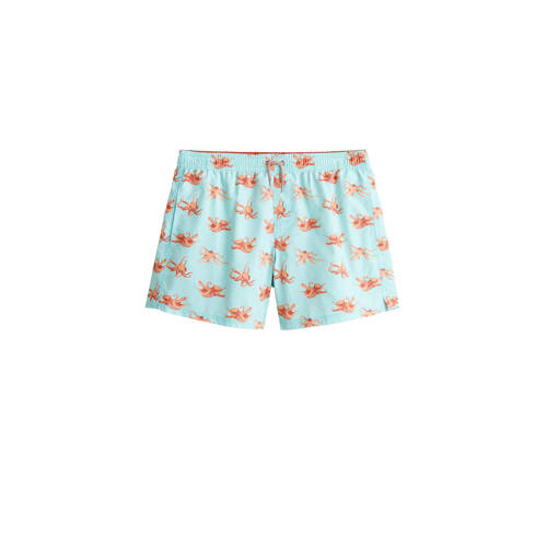Mango Man zwemshort met all over print turquoise