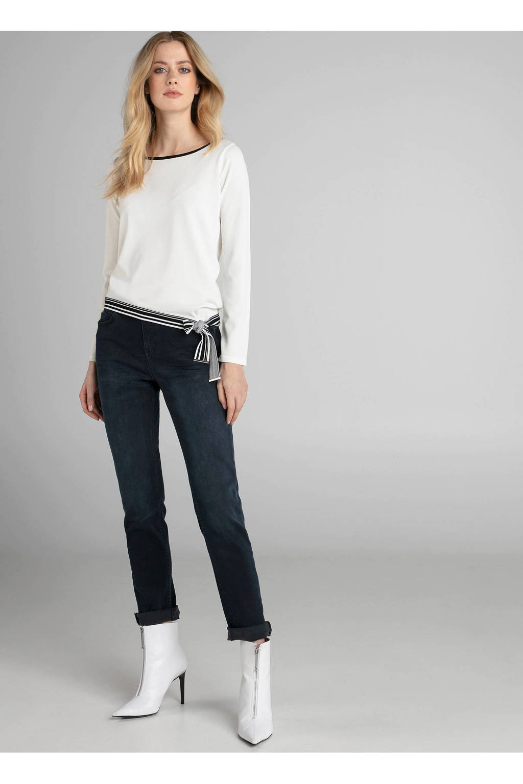 Claudia Sträter fijngebreide trui wit, Wit