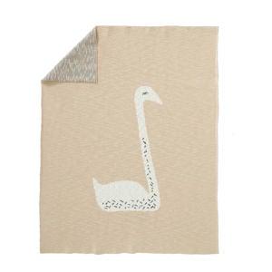 gebreide baby ledikantdeken 100x150 cm Swan zalmroze